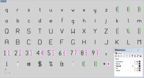 The AtoB default font that ships with the fabricator font library.